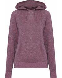 cf1d0f36 Love Stories - Woman Hoody Metallic Cotton-blend Jersey Sweatshirt Plum -  Lyst