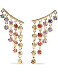 Noir Jewelry - San Juan Creeper 14-karat Gold-plated Crystal Earrings - Lyst