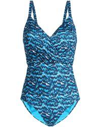 Matthew Williamson - Open-back Printed Swimsuit - Lyst