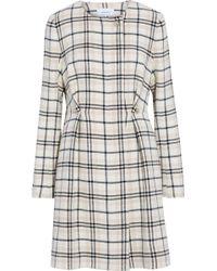 Carven - Embellished Checked Wool-blend Coat - Lyst