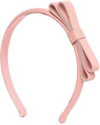 RED Valentino - Bow-embellished Leather Headband - Lyst