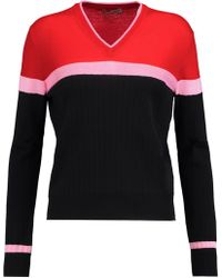 Emilio Pucci | Panelled Merino Wool Jumper | Lyst