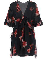 IRO - Falal Ruffled Floral-print Voile Mini Dress - Lyst