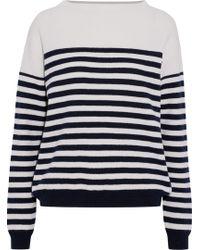 M.i.h Jeans - Margot Striped Merino Wool Jumper Ivory - Lyst
