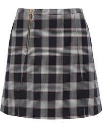 Baum und Pferdgarten - Sayoko Checked Jacquard Mini Skirt Midnight Blue - Lyst