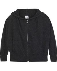 Iris & Ink - Woman Cashmere And Wool-blend Hoodie Charcoal - Lyst