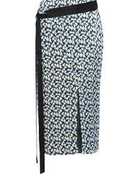 Jason Wu - Wrap-effect Printed Silk-georgette Skirt - Lyst
