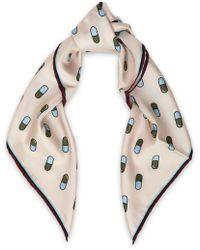 Anya Hindmarch - Printed Silk-twill Scarf - Lyst