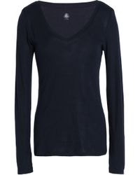 Petit Bateau - Marled Cotton-jersey Top - Lyst