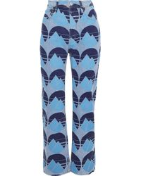 Acne Studios - Painted Mid-rise Straight-leg Jeans - Lyst