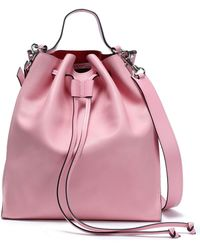 dc5b6d45bb3 JW Anderson - Woman Leather Bucket Bag Baby Pink - Lyst