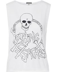 R13 - Nothing Sacred Printed Cotton And Cashmere-blend Jersey Tank - Lyst