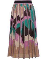 M Missoni - Metallic Intarsia-knit Midi Skirt - Lyst