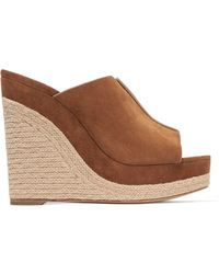 Michael Kors - Charlize Suede Wedge Sandals - Lyst