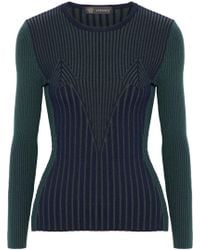Versace - Ribbed Wool-blend Sweater - Lyst