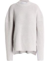 Amanda Wakeley | Merino Wool Sweater Light Gray | Lyst