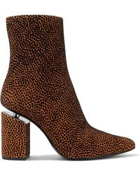 Alexander Wang - Kirby Flocked Suede Ankle Boots - Lyst