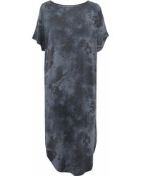 DKNY - Cold-shoulder Tie-dye Modal-blend Jersey Nightdress - Lyst