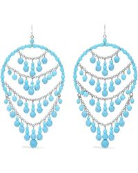 Ben-Amun - Silver-tone Beaded Earrings - Lyst