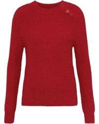 Antik Batik - Woman Shade Brushed Alpaca-blend Sweater Red - Lyst