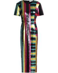 Diane von Furstenberg - Saxon Stripe Sequin Dress - Lyst