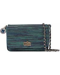 M Missoni | Metallic Crochet-knit Shoulder Bag | Lyst