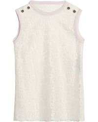 Dolce & Gabbana - Button-embellished Corded Lace Top - Lyst