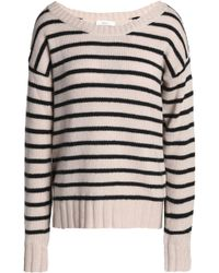 A.L.C. - Striped Stretch-knit Cotton-blend Jumper - Lyst