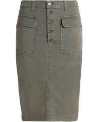 J Brand - Woman Denim Skirt Army Green - Lyst