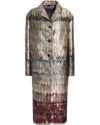 Valentino - Metallic Jacquard Coat - Lyst