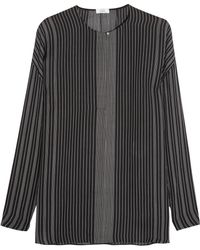Vince - Striped Silk-chiffon Blouse - Lyst