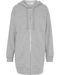 T By Alexander Wang - Cotton-blend Terry Hooded Sweatshirt - Lyst