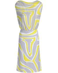 Emilio Pucci - Gathered Printed Crepe De Chine Dress - Lyst