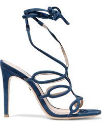 Schutz - Nivia Cutout Nubuck Sandals - Lyst
