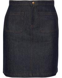 A.P.C. - Denim Mini Skirt - Lyst