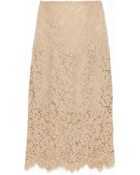 Ganni - Jerome Corded Lace Skirt - Lyst