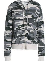 Splendid - Printed Jersey Hooded Jacket - Lyst