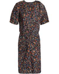 Isabel Marant - Twisted Printed Silk Dress - Lyst