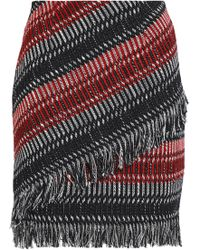 Nicholas - Fringed Tweed Mini Skirt - Lyst