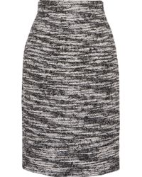 Oscar de la Renta - Metallic Wool-blend Bouclé Skirt - Lyst