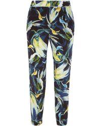 Erdem - Giulia Cropped Printed Silk Crepe De Chine Slim-leg Pants - Lyst