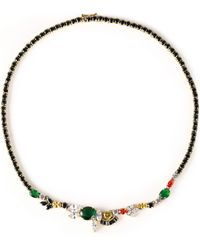 Iosselliani - Gold-tone Crystal Necklace - Lyst
