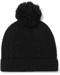 N.Peal Cashmere - Cable-knit Cashmere Beanie - Lyst