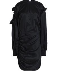 Magda Butrym - Acapulco Ruffled Cutout Silk-satin Mini Dress - Lyst