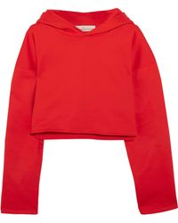 Golden Goose Deluxe Brand - Cropped Cotton-jersey Hooded Top - Lyst