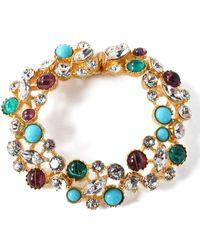 Ben-Amun - Silver-tone, Swarovski Crystal And Cabochon Bracelet - Lyst