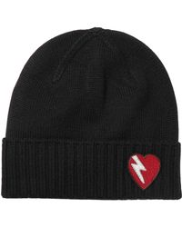 Saint Laurent - Embroidered Wool Beanie - Lyst