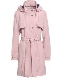 DKNY - Shell Hooded Jacket Pastel Pink - Lyst