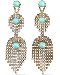 Elizabeth Cole - Gold-tone Crystal Earrings - Lyst