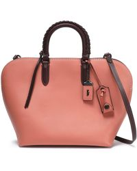 COACH - Leather Tote Antique Rose - Lyst